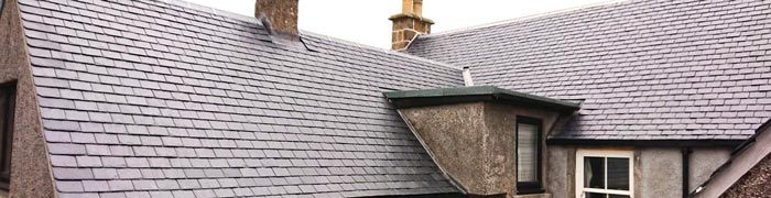 New slate church roof with Copper King ridge